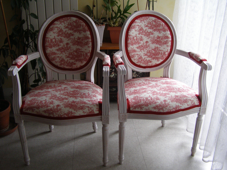 fauteuils co toile de jouy pour deux m daillons louis xvi. Black Bedroom Furniture Sets. Home Design Ideas